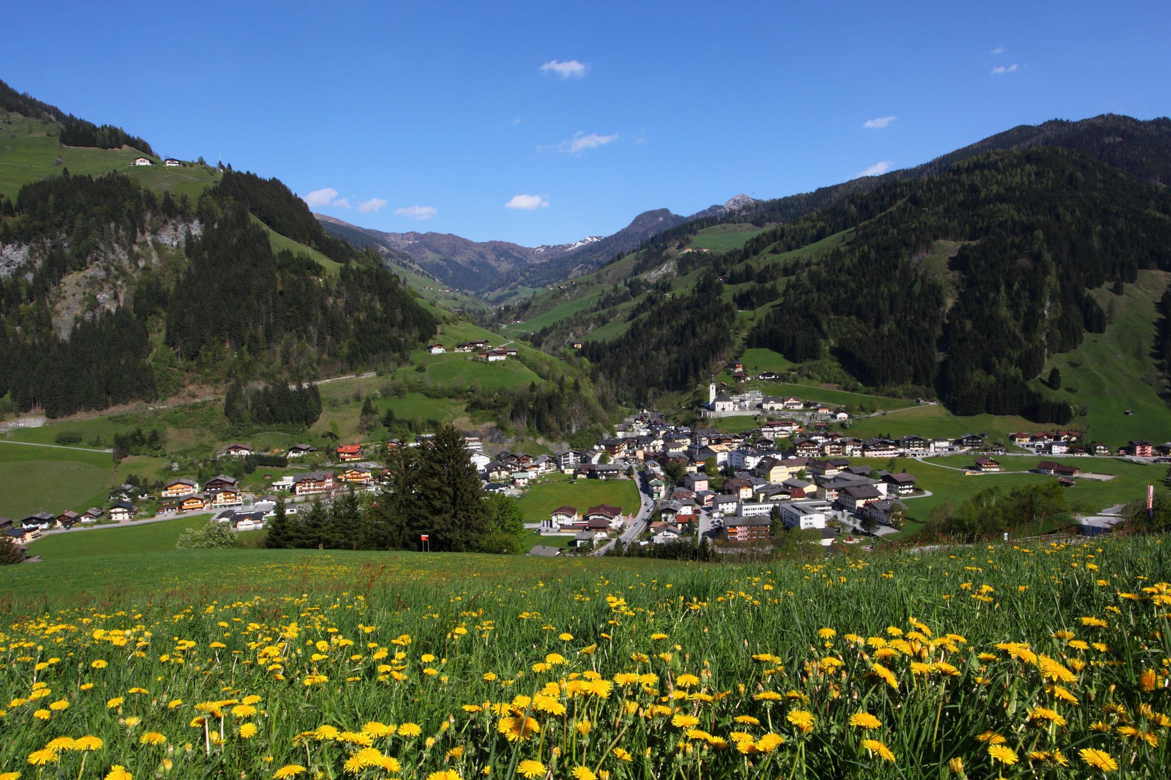 ferienhaus-grabenhaeusl-grossarl-fruehling-ortsansicht